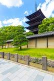 Toji Five Story Pagoda Outside Wall Blue Sky V Royalty Free Stock Images