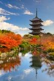 Toji Pagoda in Japan. Kyoto, Japan at Toji Pagoda in autumn Royalty Free Stock Photography