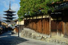 Toji pagoda kyoto japan wallpaper background royalty free stock photo