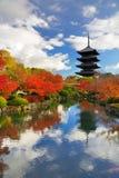 Toji Pagode in Kyoto, Japan Lizenzfreie Stockfotografie
