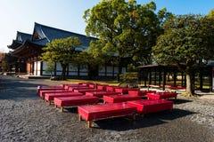 Toji relax seats, Kyoto. Relax seats to enjoy autumn color at Toji temple, Kyoto, Japan Royalty Free Stock Photos