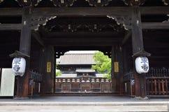 Toji-tempel houten poort, Kyoto Japan Royalty-vrije Stock Foto