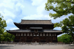 Toji-tempels huvudsakliga korridor, Kyoto Japan Fotografering för Bildbyråer