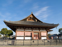 Toji Temple. In Kyoto, Japan which also houses the famous five-storey, 57 m high pagoda tower, the tallest wooden tower in Japan stock photography