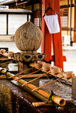 Wonderful and elegant purification fountain in Japan Royalty Free Stock Photo