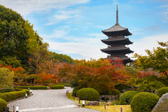 Toji Temple in Kyoto, Japan Stock Photos