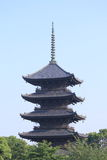 Famous pagoda temple Kyoto Japan  Royalty Free Stock Photography