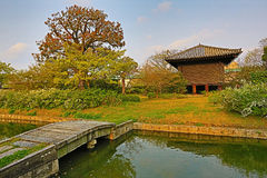 Toji temple in spring, kyoto, japan Royalty Free Stock Photography