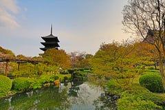 Toji temple in spring, kyoto, japan Royalty Free Stock Photos