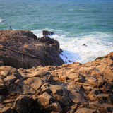 Tojinbo Cliff Royalty Free Stock Photography