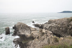 Tojinbo Cliff Royalty Free Stock Images