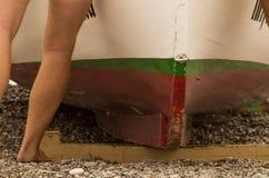 Tojino, dettaglio della barca la Senna Fotografia Stock Libera da Diritti