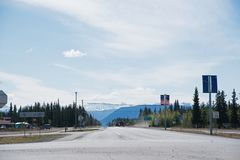 Tok Alaska Highway stock photography