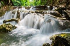 Tok Chet Sao Noi Waterfall numérico, Saraburi, Tailândia Fotografia de Stock Royalty Free