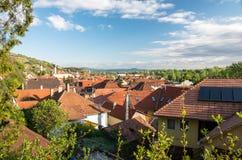 Tokaj, Hungary. View over the village of Tokaj, Hungary stock images