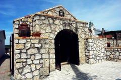 Tokaj winery cave. royalty free stock photography