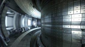 Tokamak do reator de fusão Câmara da reação Poder de fusão illus 3d Imagem de Stock