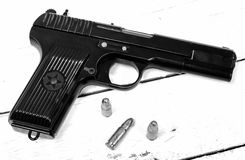 Tokarev pistol used by the Red Army Stock Images