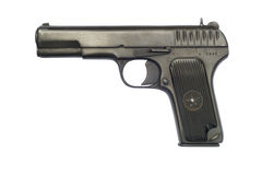 Tokarev TT33 Pistol. A Soviet TT33 pistol from 1942; the year the Battle of Stalingrad began. The TT-33 was widely used by Soviet troops during World War II, but Stock Images