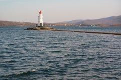 Tokarevskiy lighthouse in Vladivostok, Russia. Stock Image