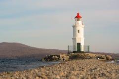 Tokarevskiy lighthouse in Vladivostok, Russia. Stock Photos