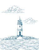 Tokarevskiy lighthouse in Vladivostok. Stock Photography