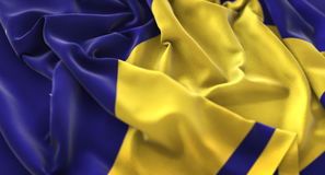 Tokelau Flag Ruffled Beautifully Waving Macro Close-Up Shot. Studio Royalty Free Stock Photo