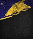 Tokelau Flag Vintage on a Grunge Black Chalkboard  Stock Images