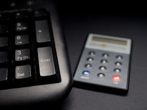 Token and keyboard. Security net banking token next to keyboard Royalty Free Stock Images