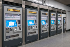 Token machines located at the station MRT  Mass Rapid Transit. It is the latest public transportation system in Klang Valley fr. Kuala Lumpur,Malaysia - July 25 Stock Images