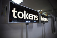 Token signs Stock Photography