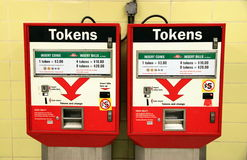 Tokens Machines Stock Photo