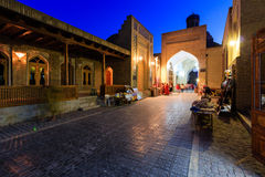 Toki Sarrofon - εσωτερική αγορά του XVI αιώνα, που βρίσκεται στην πόλη της Μπουχάρα Στους αρχαίους χρόνους ήταν ανταλλαγή των νομ Στοκ Εικόνα