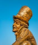 Tokig hattmakare Sculpture Arkivfoton