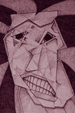 tokig skräck Royaltyfri Illustrationer
