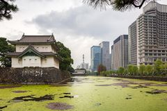 Tokio都市风景在故宫的 免版税库存照片