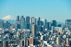 Tokio con el monte Fuji Fotos de archivo libres de regalías