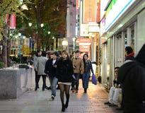 TOKIO - 23 DE NOVIEMBRE: Vida en las calles de la visita de la gente en Shinjuku Imágenes de archivo libres de regalías