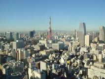 Tokio dniem z górą Fuji Obrazy Stock