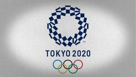 Tokio 2020 flaga zdjęcia royalty free