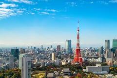 Tokio góruje, miasta pejzaż miejski, Japonia, Tokio - i linia horyzontu obraz royalty free