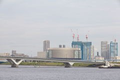 Tokio Harumi mola teren Obrazy Stock