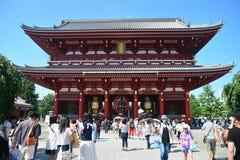 Tokio, Japón - 22 de agosto de 2015: Muchas de la visita turística alrededor de S Imagen de archivo libre de regalías