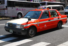 Taxi de Tokio Foto de archivo libre de regalías