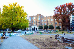 Tokio, Japón - 22 de noviembre de 2013: Estudiantes en la universidad de Tokio Imágenes de archivo libres de regalías