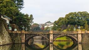 Tokio, Japón - 24 de septiembre: Palacio imperial en Tokio, Japón encendido Imagen de archivo