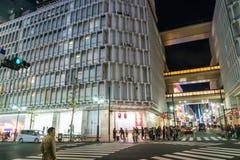 Tokio, Japón, el 17 de noviembre de 2016: Travesía de Shibuya de la calle de la ciudad con Fotos de archivo libres de regalías