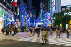 Tokio, Japón, el 17 de noviembre de 2016: Travesía de Shibuya de la calle de la ciudad con Imagen de archivo libre de regalías