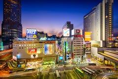 Tokio, Japón en el distrito de Shibuya Imágenes de archivo libres de regalías