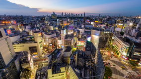 Tokio Japón en Shibuya metrajes